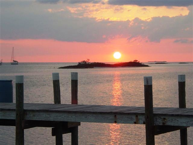 stunning sunsets from your Man-O-War Cay property on Abaco in the Bahamas