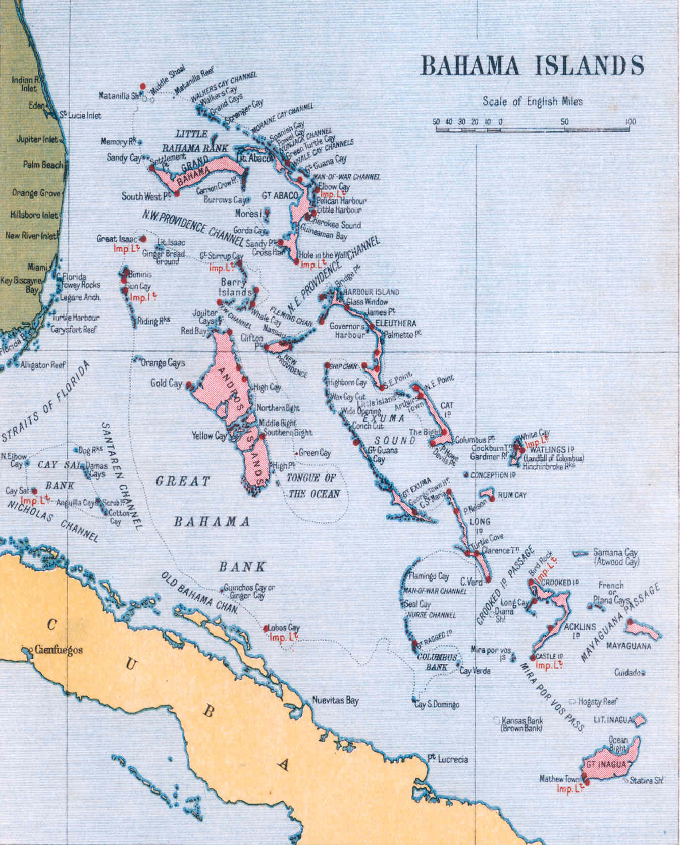 Map Of Bahamas Island Map of the Bahamas