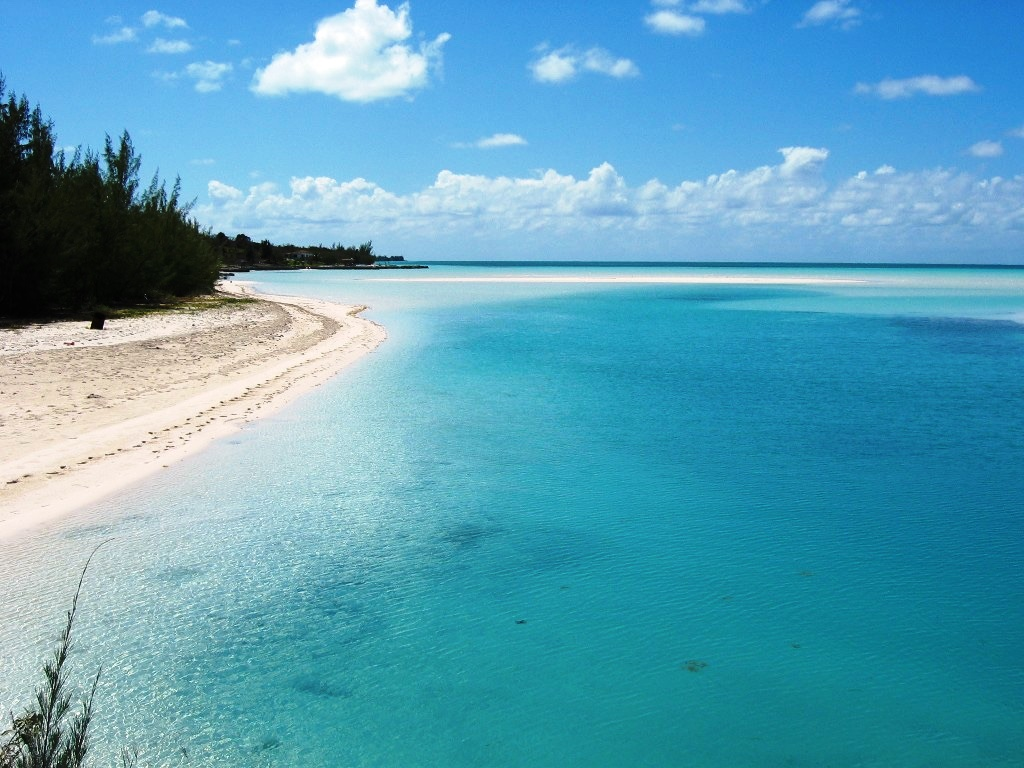 view of the beaches by Spanish Wells property on Eleuthera
