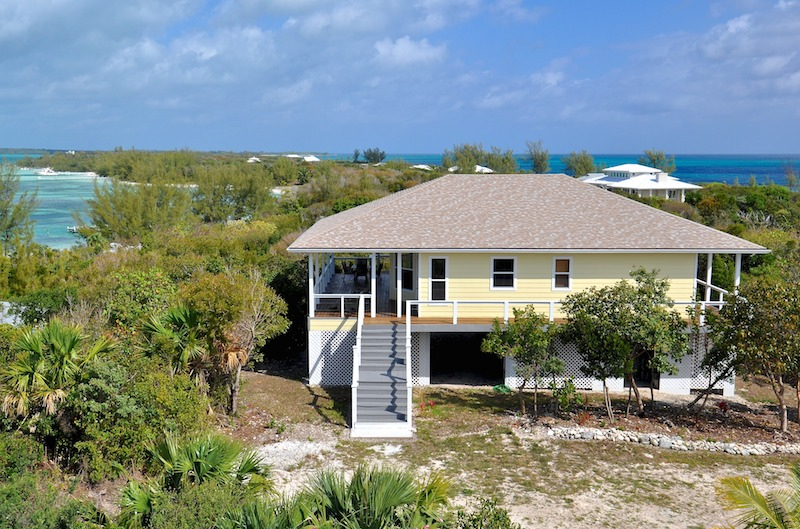 Elevated home for sale in Green Turtle Cay