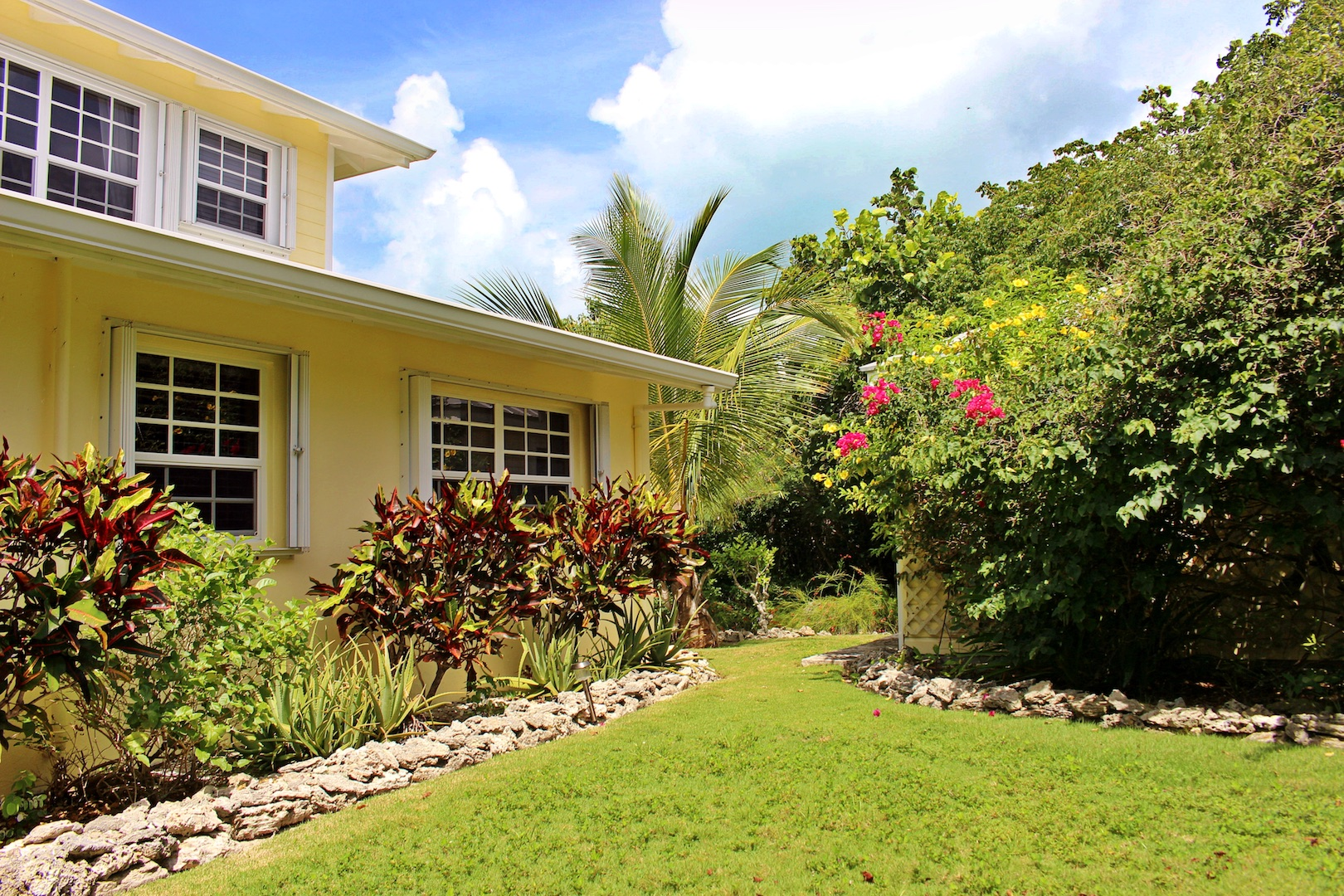 Green Turtle Cay home for sale with beach and dock acreage