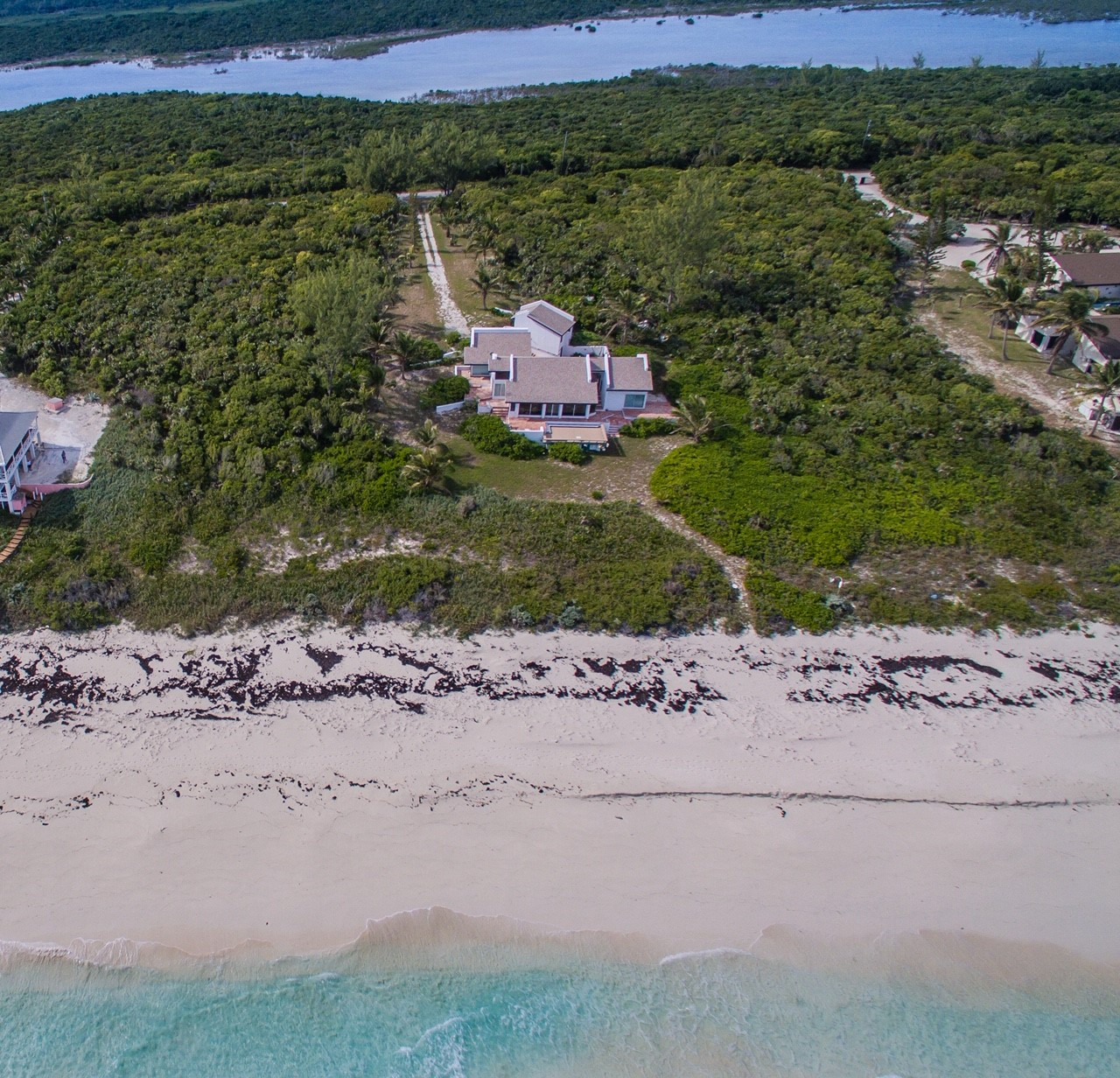 Beachfront home for sale in The Bahamas