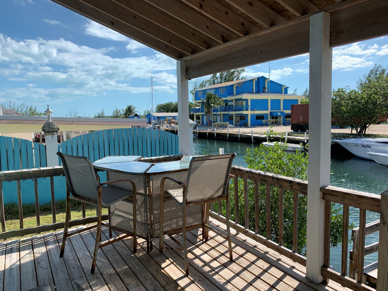 Bimini canal front home