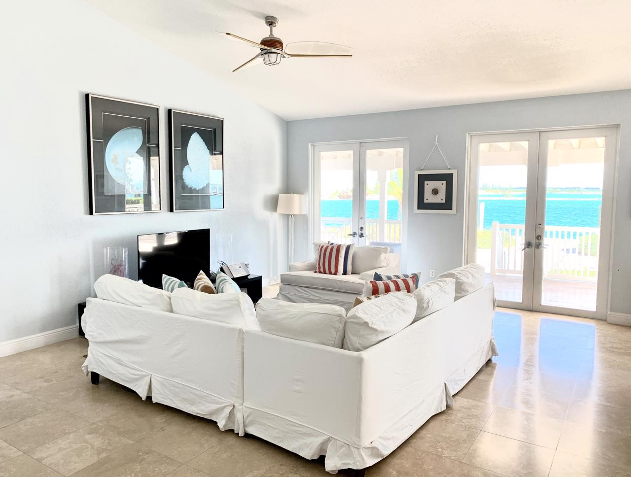 Bimini bayfront home with dockage.