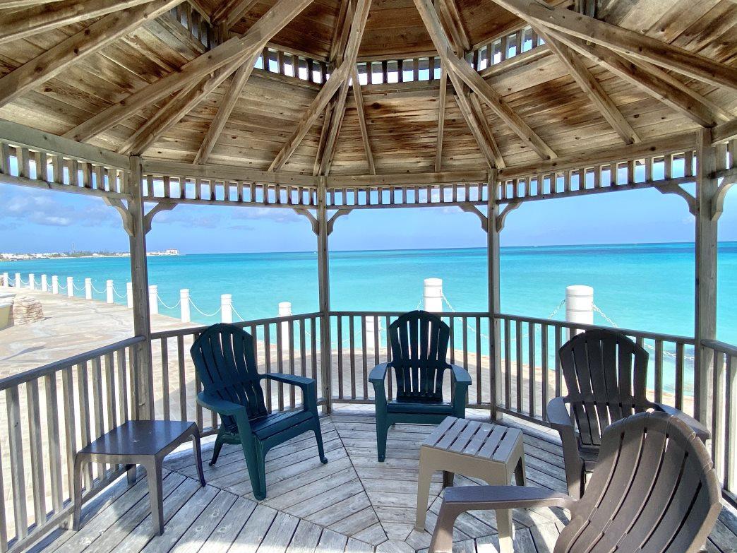 gated beachfront condo cable beach bahamas